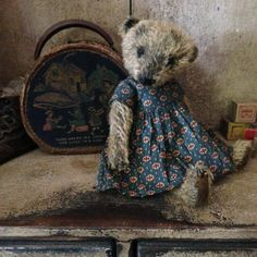 CLEMENCE OAK  Mohair Artist Bear by VillagePrimitivesbyM on Etsy, $159.00