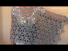poncho hojas de otoño en crochet - YouTube