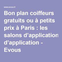 Bon plan coiffeurs à petits prix à Paris: les salons d'application