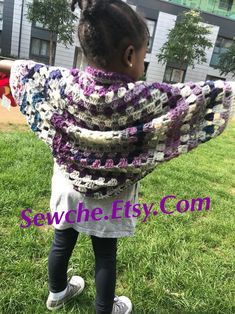 Childrens Cocoon sweater shrug Cardigan - Handmade By YJas Loose Fitting - Outer. Childrens Cocoon sweater shrug Cardigan – Handmade By YJas Loose Fitting – Outer Garment – Bo Cocoon Sweater, Shrug Cardigan, Color Blending, Etsy Handmade, Plaid Scarf, Crochet, Pattern, Sweaters, Bohemian