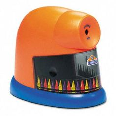 An Electric Crayon Pencil Sharpener? It automatically peels back the paper and sharpens the crayon to its original shape! Oh where was this when I was a kid! Classroom Setup, Kindergarten Classroom, Future Classroom, School Classroom, Preschool Teachers, Classroom Crafts, Classroom Design, Too Cool For School, Back To School