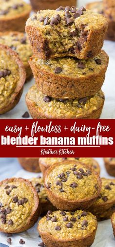 Recipes Snacks Muffins Easy Blender Banana Muffins with Chocolate Chips! Flourless, gluten free, dairy free, made with oats and banana. The best healthy muffins! These oatmeal muffins are so moist and perfect for toddler breakfasts. Banana Oatmeal Muffins, Banana Chocolate Chip Muffins, Chocolate Chips, Banana Breakfast Muffins, Banana Muffins Flourless, Oat Muffins Healthy, Flourless Chocolate, Cake Chocolate, Healthy Toddler Breakfast