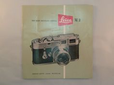 Vintage Leica M3 Camera Brochure Booklet Pamphlet 1955 Most Advanced Camera