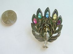 Vintage Peacock Brooch / Peacock Pin / Peacock Necklace / Peacock Jewelry / Peacock Pendant / Bird Jewelry / Bird Pendant by TamJewelryandUniques on Etsy