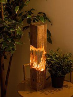 Epoxy wood lamp lamp night lamp resin table decor decor | Etsy