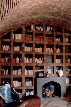 A beautiful home library #literarydecor