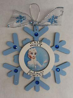 Frozen Elsa, Anna or Olaf Christmas Ornament by GingerbreadDreams4U on Etsy
