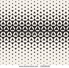 www.shutterstock.com Vector seamless pattern. Modern stylish texture. Repeating geometric tiles. Halftone from triangles