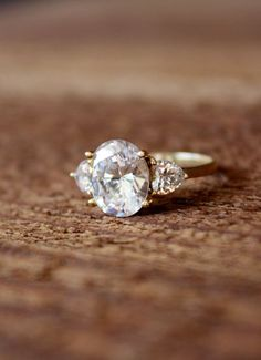 dream engagement ring, if it were real diamonds & real gold