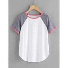 To find out about the Contrast Binding Raglan Sleeve Tee at SHEIN, part of our latest T-Shirts ready to shop online today! Girls Fashion Clothes, Teen Fashion Outfits, Trendy Outfits, Girl Fashion, Fashion Black, Fashion Ideas, Fashion Trends, Pullover Shirt, Sweater Shirt