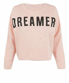 Pink (Pink) Pink Dreamer Batwing Sweater | 308562770 | New Look