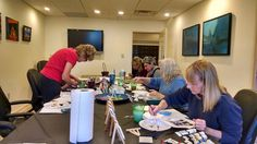 """A """"Mini"""" Art Class I taught December, 2015 at the gallery 1020 Art in Tallahassee. The folks had tons of fun!"""