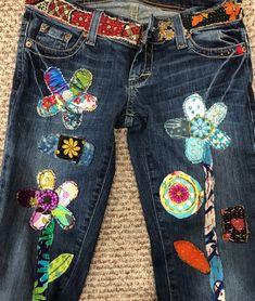 Denim Blouse Blue Denim Shirt 34 Sleeve Denim Top Vintage Jeans Denim Blouse Lace Trim Bohemian Hippie Flower Girl Prairie Medium Size
