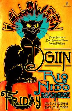 Never miss a Halloween Party at the RNR when D'GiiN is playing. Wear a Costume. Prizes.