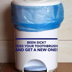 Have you or your kids been sick? It's a great time to throw away your toothbrush. While you generally can't get sick again from the same virus, you. Oral Health, Dental Health, Dental Care, Health Tips, Rancho Santa Margarita, Dental Hygiene School, Pediatric Dentist, Healthy Teeth, 4 Kids