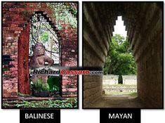 Ubud Bali Corbel Arch Mayan Corbel Arch-http://www.richardcassaro.com/tag/howler-monkey-god