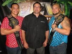 Mike Rotunda (IRS) & his sons Windham Rotunda (Bray Wyatt) & Taylor Rotunda (Bo Dallas)