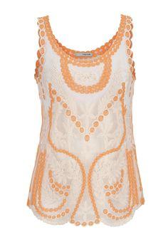 3c5b6a57777d6 neon orange unlined lace tank - maurices.com Top Rendado
