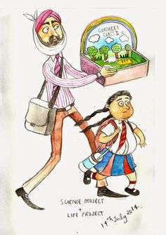 The Darling Daddy From The Typical Delhi Mom To The Metro Girls, An Artist Perfectly Captures The People Of Delhi