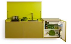Miniki collapsible kitchen. Available in 14 colors and several formats. Lovely. http://www.miniki.eu
