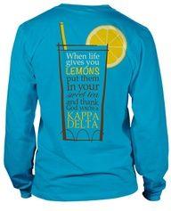 Long Sleeve Kappa Delta T-shirt