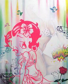 Can't Buy My Love  - 2016 - oil, acrylic, enamel and spray paint on canvas - cm100x80