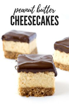 These baked Peanut Butter Cheesecake Bites have a crumbly cookie crust and a creamy peanut butter filling. Dipped in chocolate, they're the perfect dessert! Chocolate Peanut Butter Cheesecake, Chocolate Cream Cheese, Brownie Cheesecake Bites, Chocolate Dipped, Cheesecakes, Cookie Crust, Keto, Homemade Chocolate, Savoury Cake