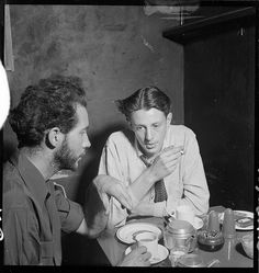 'Johnno' Robert Johnson ; unknown from Lincoln Coffee Lounge & Cafe, Rowe Street, Sydney / photographed by Brian Bird c. 1948-1951