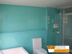 #EVAkote #DecorativeGlass #CohesionInteriors Locker Storage, Bathrooms, Colours, Glass, Interior, Furniture, Home Decor, Decoration Home, Bathroom