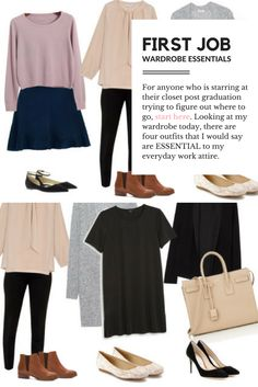 The 4 outfits you NEED for your first job!