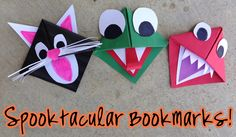 Cat bookmark, frog bookmark and monster bookmark! DIY creative bookmarks that will make reading fun!