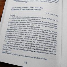 """A primeira opinião de Allen Ginsberg sobre """"On the road"""" em carta enviada a Jack Kerouac em 1952."""