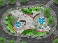 Jardim architecture of the future peyzaj düzenlemesi fikirle Landscape Design Plans, Landscape Concept, Landscape Architecture Design, Urban Landscape, Kindergarten Design, Plans Architecture, House Front Design, Backyard Makeover, Layout Design