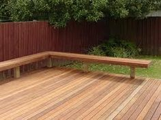 how to build a deck bench - Google Search