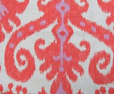 for baby girl's room... hope ikat isn't going out any time soon! beige, coral, lavender...