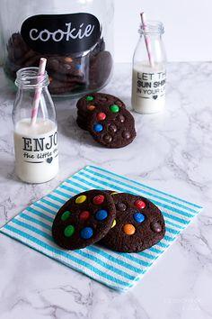 Galletas de chocolate con M&M's