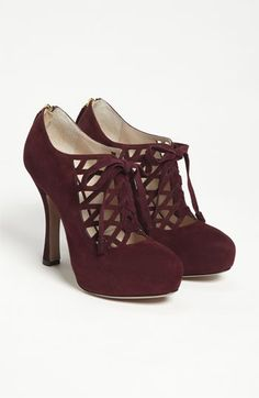 Prada Multi Lace Bootie | Nordstrom  Ah! I actually have these in black suede- they're the best!