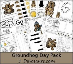 FREE Groundhog Day Pack 3 Dinosaurs has a FREE Groundhog Day Pack. This Groundhog pack is make for kids 2 to This pack has has some fun sheets to fill in information Preschool Groundhog, Groundhog Day Activities, Holiday Activities, Fun Activities, February Holidays, School Holidays, January, Preschool Themes, Preschool Lessons