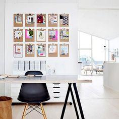 Un mur fait de porte-documents - Marie Claire Idées
