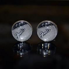 Fender Guitar Amp Cufflinks by Cuffitt on Etsy, $25.00  |  cufflinks for musicians, music lovers