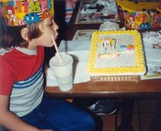 Birthday Party at McDonalds with a Ronald McDonald cake.  I went to a few and even had a birthday party at McDonalds when I was a kid.