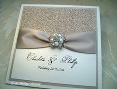 Luxury Champagne Glitter Wedding by QuillsWeddingFavours on Etsy