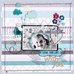 Love This Moment Scrapbook Layout from @Little Yellow Bicycle Incorporated - Capture a precious moment with this beautiful free scrapbook layout.