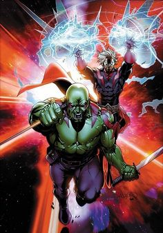 Drax The Destroyer and Adam Warlock by Pasqual Ferry. Drax the destroyer is my favorite space character. Adam is also amazing. Marvel Comics, Marvel Vs, Marvel Heroes, Captain Marvel, Marvel Comic Character, Comic Book Characters, Marvel Characters, Comic Books Art, Gaurdians Of The Galaxy