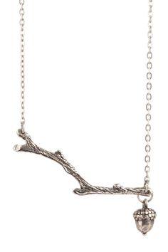 branch & acorn necklace by vivian tamayo.