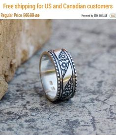 On SALE, Art deco ring, Unisex Silver Ring, #jewelry #ring @EtsyMktgTool http://etsy.me/2a7H4MF