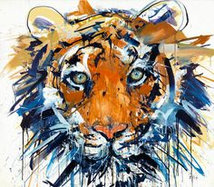 Illustrations - by Dave White #arte #art #ilustracao #illustration #dave #white #tigre #tiger #cor #color #tinta #paint