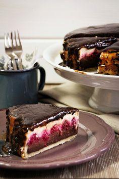 So ziemlich der beste Cheesecake ever Mit Himbeeren, Karamell und Schokolade
