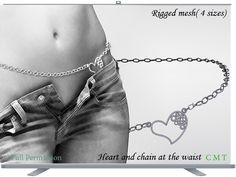 Heart and chain at the waist Full Permission Rigged sizes) AO UV included You can not sell or transfer the right to resell or transfer. Rigs, Chain, Heart, Jewels, Wedges, Hearts