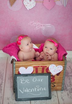 Twin girls Valentine Session #photography